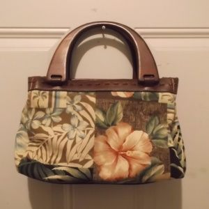 """Croft & Barrow"" cotton print, summer satchel -new"